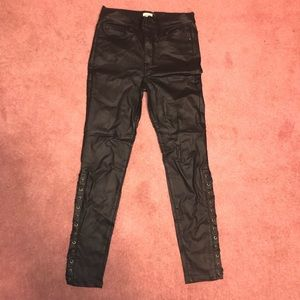 Pants - Leather high wasted pants